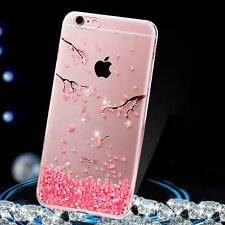 Sakura Coque Housse Etui Bling Diamant Souple TPU Silicone Transparent Pr iphone