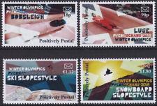 2018 Positively Postal u/m arti 'stamps' x 4 Winter Olympics Pyeongchang