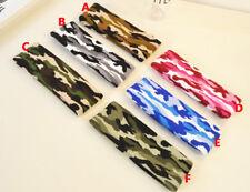 Camouflage Camo Stretch Elastic Yoga Running Sport Headband Hair Band Sweatbands