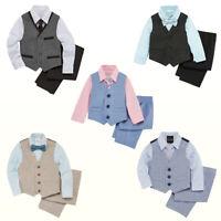 NWT Van Heusen /TFW  Baby/Toddler Boys 4-pc Vest Set Shirt Tie Vest Pants Suit