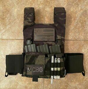 Low Vis Slick 10x12 Plate Carrier | MultiCam Black and Standard 1000D | USA Made