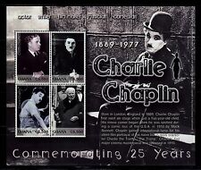 SELLOS TEMA CINE GHANA 2002 CHARLIE CHAPLIN 4v.Mini Hoja