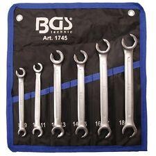 Jeu de 6 clés à tuyauter pour tuyau de frein - Taille 8 à 19mm