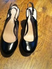 Party 100% Leather Wide (E) Court Heels for Women