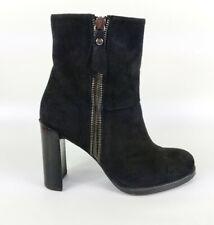 Stuart Weitzman Black Suede Leather High Heel Ankle Boots Uk 3 Eu 36