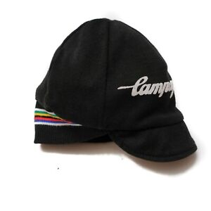 Vintage Campagnolo winter cycling cap, merino wool, reversible