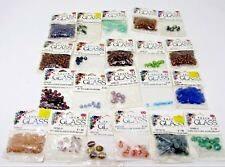 Bulk Lot #26 A Touch of Glass Beads 21 packs - 279 grams + 253 pcs mixed styles