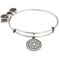 Alex And Ani New Beginnings Rafaelian Silver Finish Bangle Bracelet CBD14NBRS