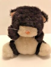 """Applause plush by Wallace Berry and Co black & white kitten that squeaks only 5"""""""