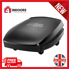 George Foreman 18471 4 Portion Family Health Grill, Black - Brand New