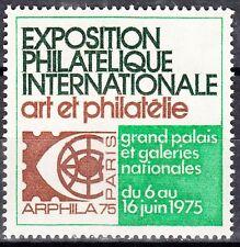 TIMBRE VIGNETTE ERINNOPHILIE ARPHILA 1975 GRAND PALAIS DES GALERIES