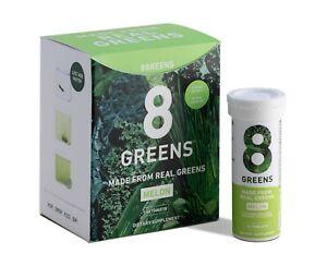8Greens Effervescent Super Greens MELON 60 Tablets Dietary Supplement