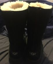 Little Girl's Size 12 Black Suede UGG Boots Used