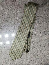 Via Europa Fine Neckwear Necktie Silk Tie Geometric Green