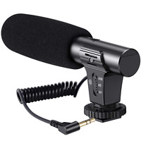 Emiral Camera Microphone Shotgun Interview Microphone Video Microphone for DSLR