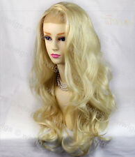 Wiwigs French Lace Front Pale Blonde Long Wavy Heat Resistant Ladies Wig
