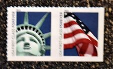 2011USA #4518-4519 Forever Lady Liberty & Flag  Pair of 2 From ATM Booklet Mint