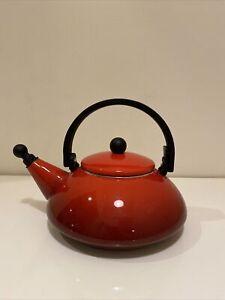 Le Creuset Enameled Steel 1.6-quart Cerise Cherry Red Zen Tea Kettle Whistle
