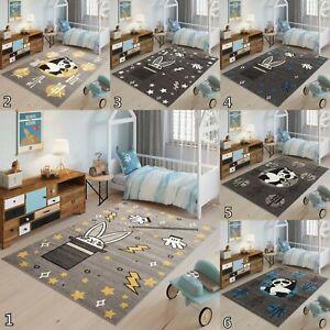 New Grey Yellow Kid's Rug Soft Nursery Animal Panda Rabbit Children Playroom Mat