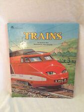 TRAINS Seymour Reit with illustrations Tom LaPadula (1990) Golden Book Vintage