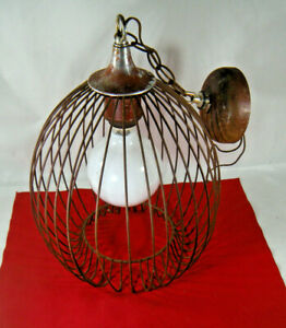 Mid Century Modern Onion Wire Cage Pendant Light Fixture Frame