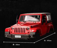 1:10 Hard Plastic BODY SHELL Red for RC Model Climbing Car Land Rover Wrangler
