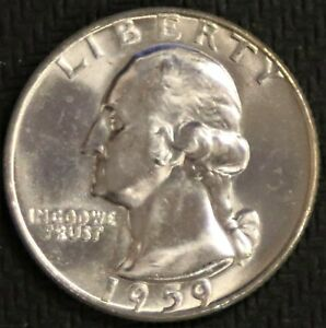"1959-D Washington Quarter /""Gem BU/"" *Free S//H After 1st Item*"