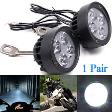 2PC Bright 4 LED Motorcycle Mirror Mount LED Driving Fog Spot Light Spotlight