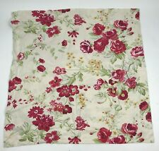 POTTERY BARN Manchester Rose EURO Pillow Case SHAM Linen PINK Red BEIGE Floral