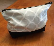 Beautiful Gray, White, Black Quatrefoil MakeUp Bag Perfect Gift For Any Occasion