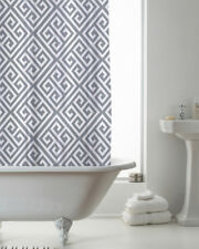Country Club Shower Curtain 180x180 Deco Grey Modern White Bathroom Contemporary