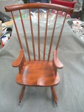 "Wooden Windsor Rocking Chair for 17-18"" doll"