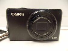 Canon PowerShot S90 10MP 6.0-22.5mm F2.0-4.9 Digital Camera Black READ