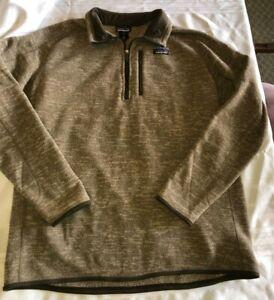 Patagonia Mens XXL Better Sweater 1/4 Zip Brown