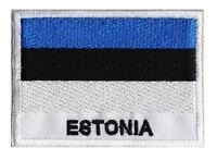 Patch écusson patche drapeau ESTONIE 70 x 45 mm brodé à coudre