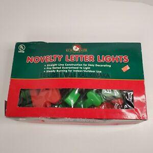Kurt S Adler 15 Mele Kalikimaka Novelty Christmas Lights Green Wire Tested Vtg