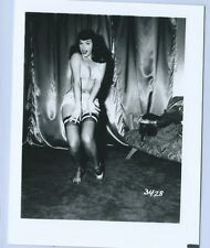 BETTIE PAGE PIN-UP ORIGINAL PHOTO FROM VINTAGE IRVING KLAW NEGATIVE #3428