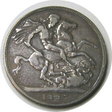 elf Great Britain Crown 1897 Victoria St George Horse Dragon