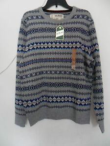 Men's Urban Pipeline Fairisle Sweater  Color: Gray Heather Size: Large New w/t