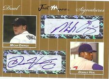 MICAH OWINGS - DONALD VEAL  2007  Dual *GOLD* Autograph xx/10