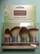 ECOTOOLS Kabuki Brush Set, 4 piece set: conceal, bronze, contour & buff NEW.