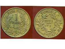 TUNISIE   1 franc  1921  ( bis )