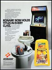 KONAMI / DOUBLE DRIBBLE__Orig. 1989 Trade print AD / game promo advert__NINTENDO