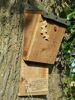 BAT NESTING ROOSTING BOX / HOUSE,  QUALITY HANDMADE BATBOX WITH FELT ROOF  ^●^