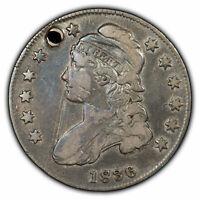 1836 50c Capped Bust Half Dollar - VF Details - SKU-H1062