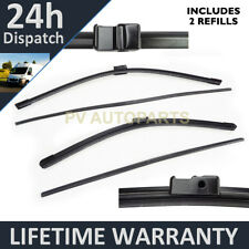 """FRONT AERO WINDSCREEN WIPER BLADES PAIR 28"""" + 30"""" FOR RENAULT ESPACE IV 2002 ON"""