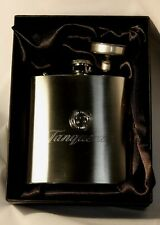 TANQUERAY GIN logo HIP FLASK 6oz stainless steel NEW in gift box FREE ENGRAVING