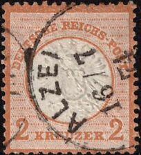 DR Brustschild 2 Kreuzer großer Schild Nr. 24 sauber gest. ALZEI, Mi. 3.200,-
