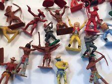 Collection Vintage Plastic Cowboys Indians Soldiers Crescent  Etc