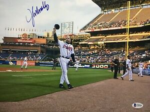 JOHN SMOLTZ SIGNED AUTO AUTOGRAPHED 11X14 ATLANTA BRAVES PHOTO HOF